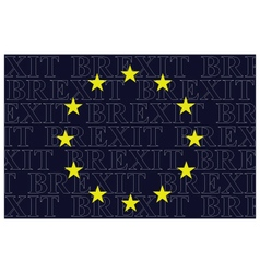 European Union Brexit Text Flag vector