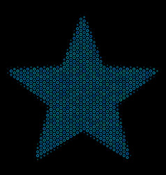 Fireworks star mosaic icon of halftone circles vector