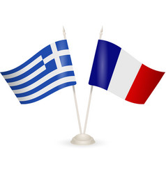 flags of Greece and France vector image vector image