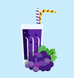 Fresh Grape Juice Drink vector image