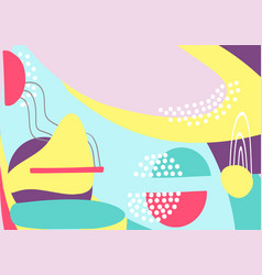 fun hand drawn colorful shapes doodle objects vector image