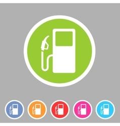 Gas petrol fuel station icon flat web sign symbol vector