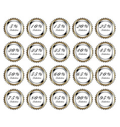 golden discount buttons vector image