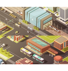 Government Buildings Isometric Banners Set vector