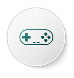 Green gamepad icon isolated on white background vector