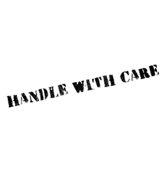 Handle with care rubber stamp vector image