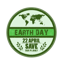 happy earth day background vector image