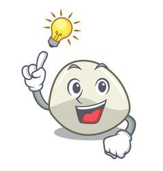 Have an idea mozzarella cheese isolated on mascot vector