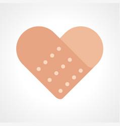 Heart shape band aid vector