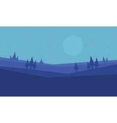 Hill at morning scenery vector image