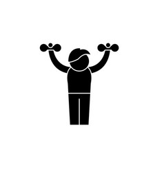home gymnastics black icon sign on vector image