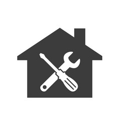 home repair icon on white background vector image