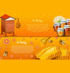 Honey or natural farm product beekeeping vector