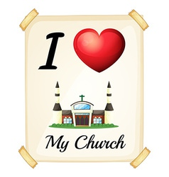 I love church vector image