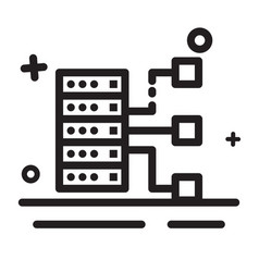 icon big data icon storage icon database icon vector image