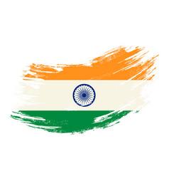 Indian flag grunge brush background vector