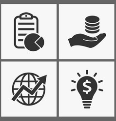 investments money icons vector image