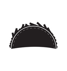 Isolated taco silhouette vector