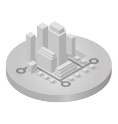 Isometric icon of city vector