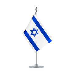 israeli flag hanging on the metallic pole vector image