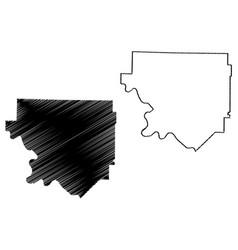 Izard county arkansas us county united states vector