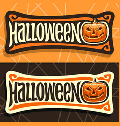 labels for halloween holiday vector image