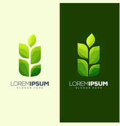 leaf logo design ready to use vector image