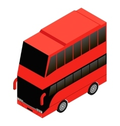 London double decker red icon vector