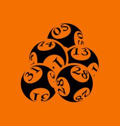 Lotto balls icon vector