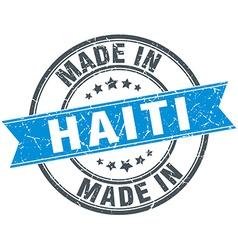 Made in Haiti blue round vintage stamp vector
