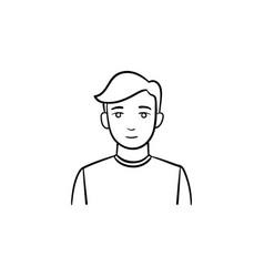 man hand drawn sketch icon vector image