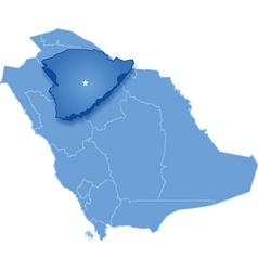 Map of Saudi Arabia the region Hail vector