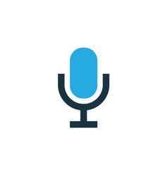 Microphone colorful icon symbol premium quality vector