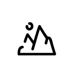 mountains icon hand drawn line symbol vector image