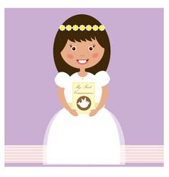 My first communion - girl vector