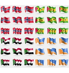 Norway Sao Tome and Principe Sudan Tierra del vector image