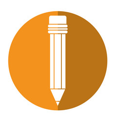 Pencil school utensil wood shadow vector