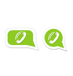 Phone handset in speech bubble icon vector