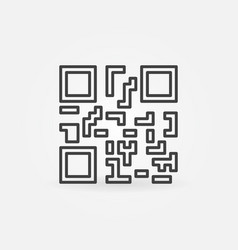 Qr code concept icon or symbol vector