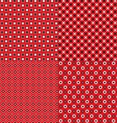red bandana patterns vector image