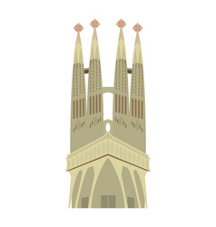 Sagrada familia in barcelona sky tower vector