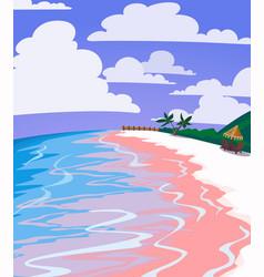 sea landscape of tropical beach vector image
