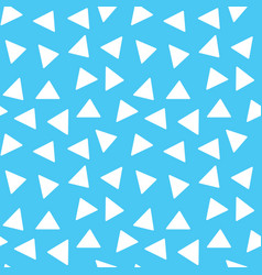 seamless memphis triangle pattern trendy and vector image