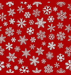 seamless pattern of snowflakes with shadows vector image