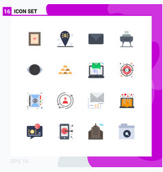 Set 16 commercial flat colors pack for eye vector