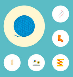 set of handmade icons flat style symbols with vector image