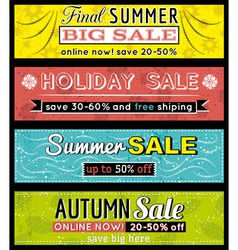 Set of special sale offer labels and banners vector