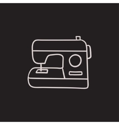 Sewing-machine sketch icon vector image