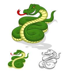 Snake Cartoon Character vector