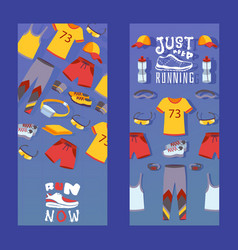 sport clothes for fitness and running vertical vector image